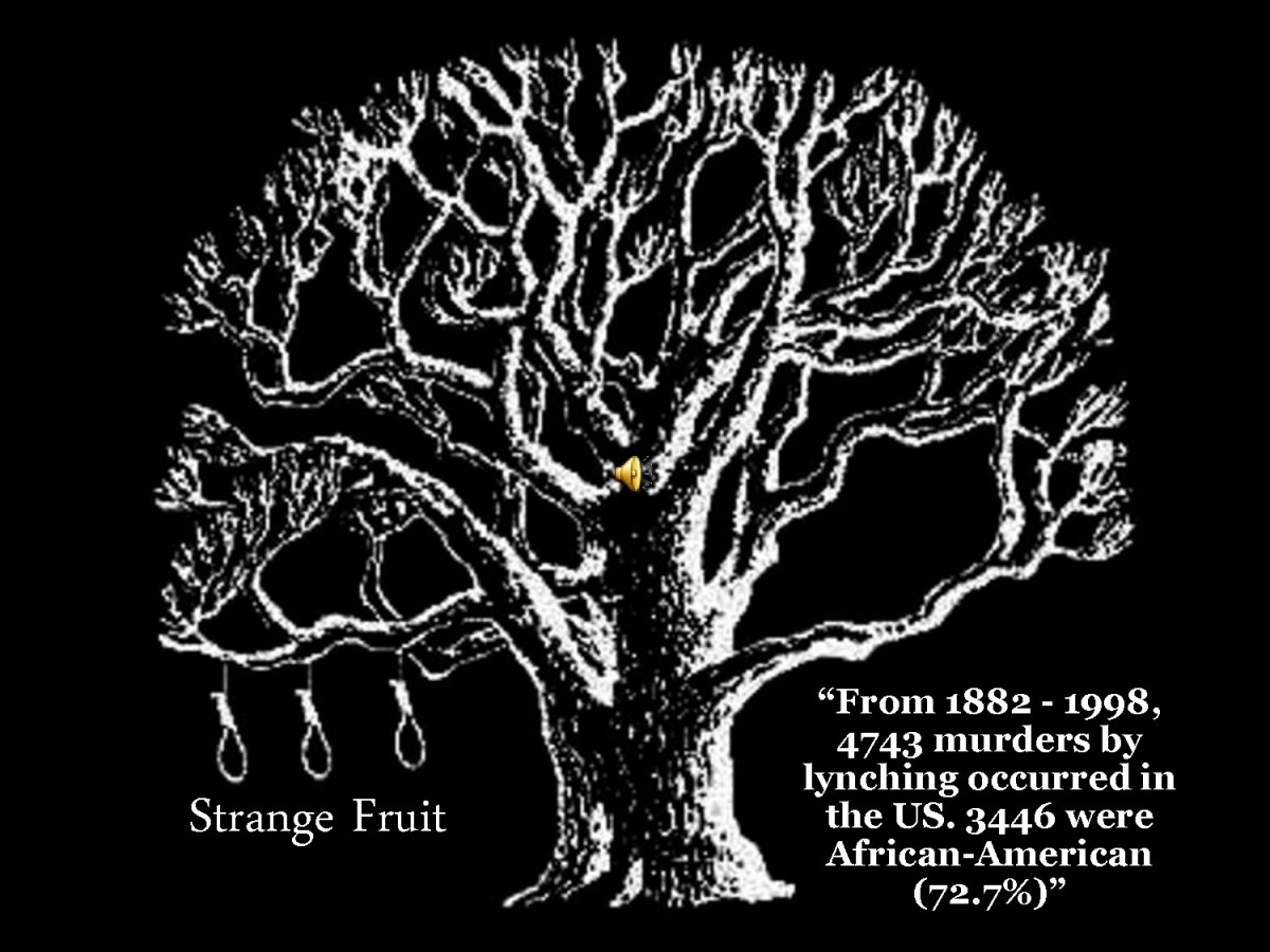 """an analysis of the poem strange fruit by allan lewis Of the works in billie holiday's repertoire, there is none like """"strange fruit  song  under the penname of lewis allan after viewing a photograph of a lynching   we have been engaged in direct critique of and commentary on events from the."""